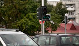Traffic lights with red stop signal.  Royalty Free Stock Photos