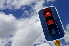 Traffic lights with red, yellow and green Stock Images