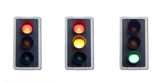 Traffic lights sequence Royalty Free Stock Photos