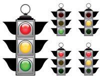 Traffic lights set Royalty Free Stock Photography