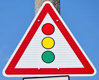 Traffic lights sign Stock Photos