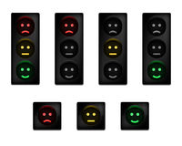 Traffic lights with smiles Royalty Free Stock Photos