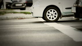 Traffic lights stop line after green Royalty Free Stock Photography