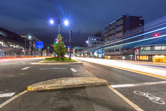 Traffic lights on the street of Kyoto Royalty Free Stock Images