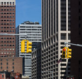 Traffic lights on the streets of Manhattan Royalty Free Stock Image