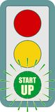 Traffic lights symbol. Flashing green Royalty Free Stock Photos