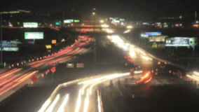 Traffic Lights Time-Lapse. Time lapse recording of traffic on a highway stock video