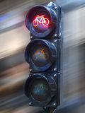 Traffic lights to control. Red traffic light signal prohibits the movement Stock Image
