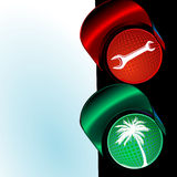 Traffic Lights To Holiday Royalty Free Stock Photo