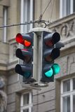Traffic lights in a town Royalty Free Stock Photography
