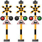 Traffic lights for train Royalty Free Stock Images