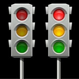 Traffic lights in two modes Stock Image