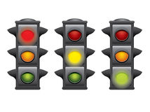 Traffic lights vector Stock Photography