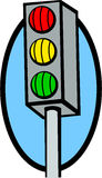 Traffic lights vector illustration Royalty Free Stock Images