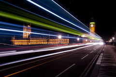 Traffic lights on the westminster bridge Royalty Free Stock Image