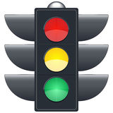 Traffic lights on white background Royalty Free Stock Image