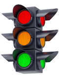 The traffic lights on white background Stock Images