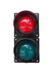 Traffic lights on white background Stock Image