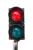 Traffic lights on white background Royalty Free Stock Images