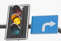 Traffic Lights Yellow Stock Photo