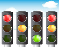 Traffic lights for your design Stock Photo