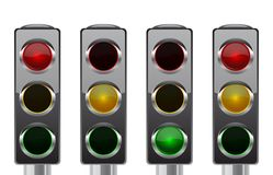 Traffic lights for your design Royalty Free Stock Photo