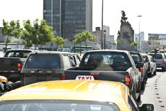 Traffic in Lima Royalty Free Stock Images