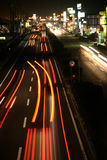 Traffic lines. Night traffic on a japanese  highway - long exposure at 100 iso Stock Image