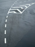 Traffic lines on asphalt Royalty Free Stock Photography