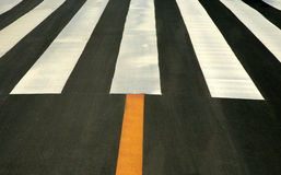 Traffic lines on asphalt Stock Photos
