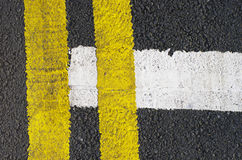 Traffic lines on the asphalt road Royalty Free Stock Photography