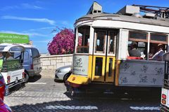Traffic in Lisbon, Portugal Royalty Free Stock Images