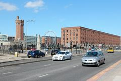 Traffic in Liverpool Stock Photo