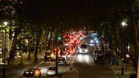 Traffic in London at night stock video footage