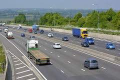 Traffic on London orbital motorway in Essex England Royalty Free Stock Photography