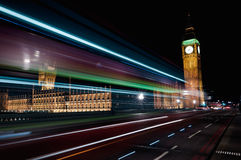Traffic in London. Traffic on Westminster bridge. London Royalty Free Stock Photography