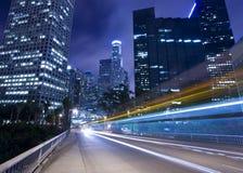 Traffic through Los Angeles royalty free stock photo