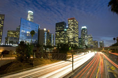Traffic through Los Angeles Royalty Free Stock Photo