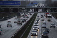 Traffic on the M1 motorway England UK Stock Photography
