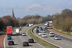 Traffic on M6 motorway passing Scorton Lancashire Stock Images