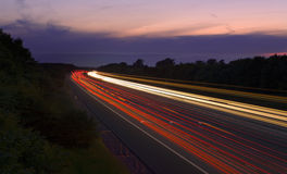 Traffic M6 Blur. An image of traffic on the m6 in england with motion blur Stock Photo