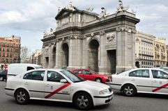 Traffic in Madrid Royalty Free Stock Images