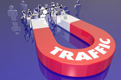 Traffic Magnet Attract Audience Viewers Customers Royalty Free Stock Photos
