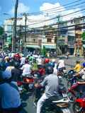 Traffic on a main street in Ho Chi Minh Stock Photo