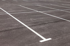 Traffic markings on a gray asphalt parking lot Royalty Free Stock Images