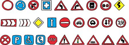 Traffic marks Stock Image
