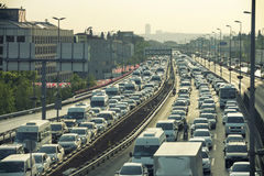Traffic At Mecidiyekoy, Istanbul, Turkey Stock Image