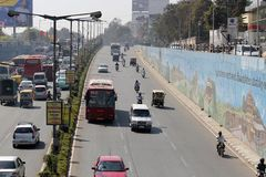 Traffic at mekhri underpass at Bangalore, India Royalty Free Stock Photography