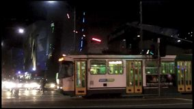 Traffic in Melbourne CBD Australia stock video footage