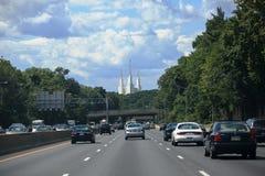 Traffic Metropolitan Area Beltway LDS Temple Stock Photos
